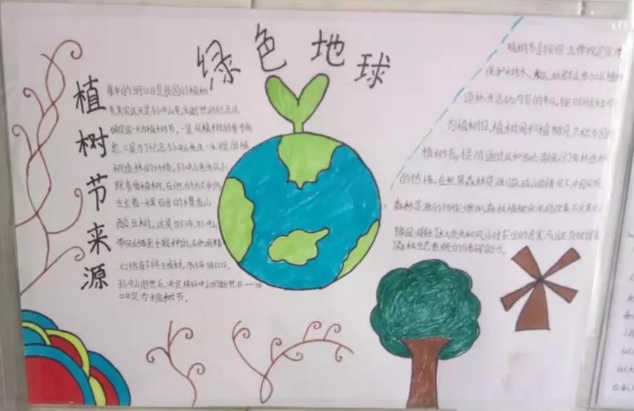 植树节手抄报图片 植树节手抄报内容文字素材2019